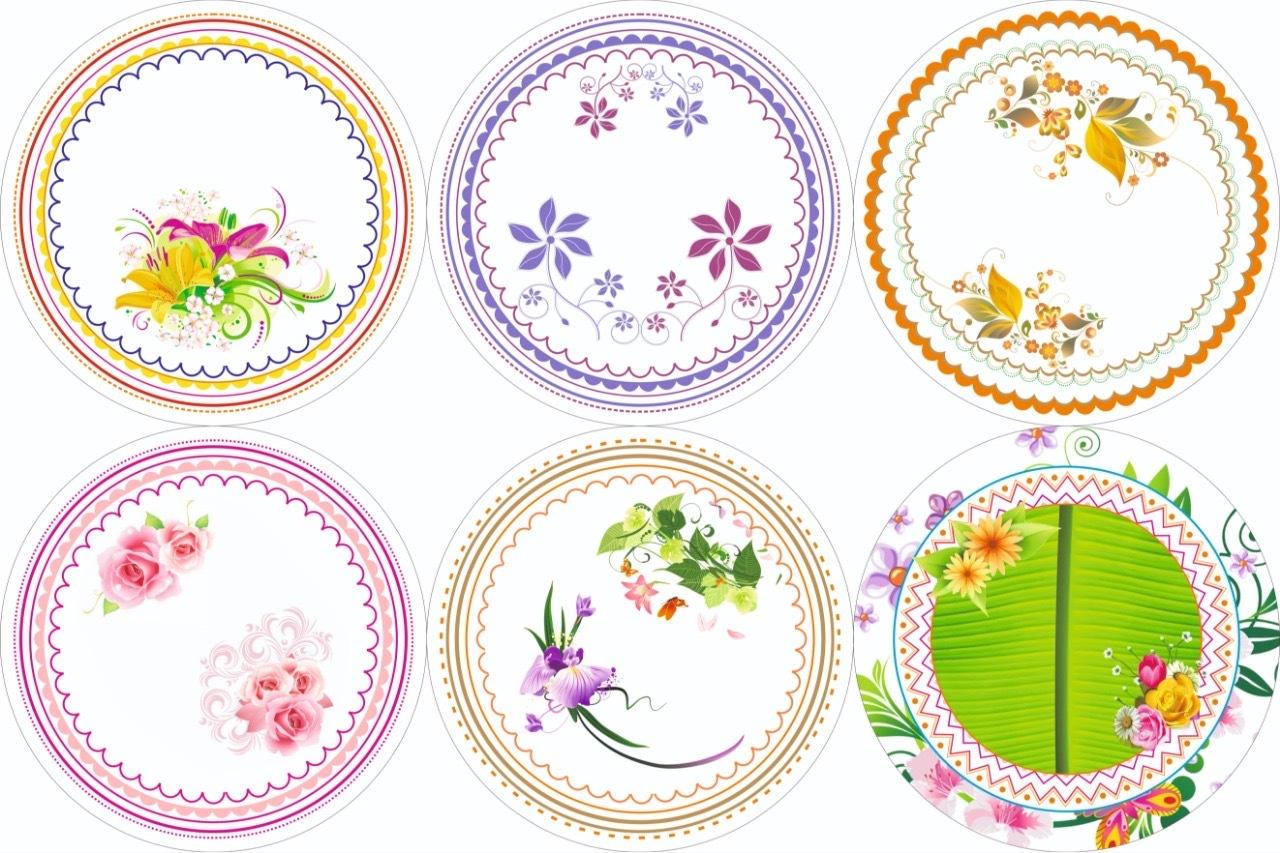 Floral Printed Paper Plate Raw Material