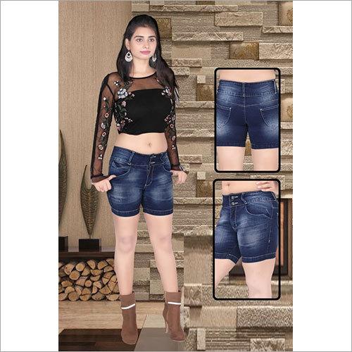 Ladies Denim Jeans Hot Pant
