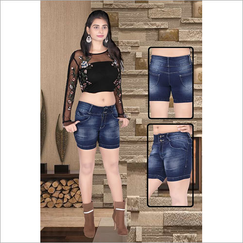 Ladies Denim Jeans Hot Pant