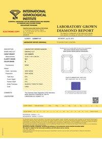 Emerald Diamond 4.01ct G VS1 Shape IGI Certified CVD TYPE2A