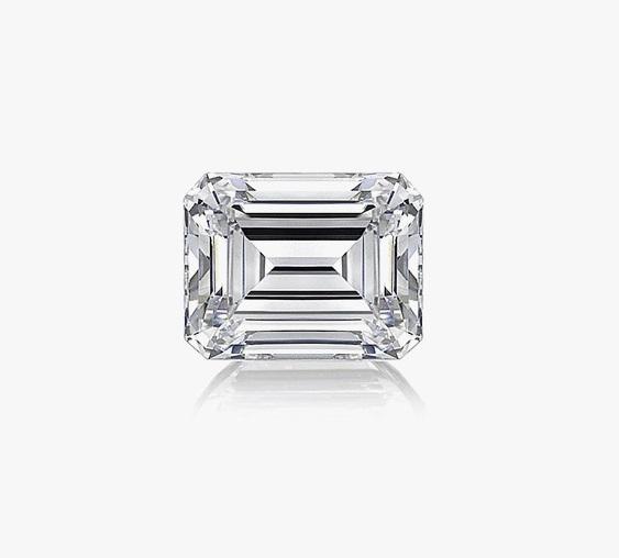 Emerald Diamond 3.93ct F VS2 Shape IGI Certified CVD TYPE2A