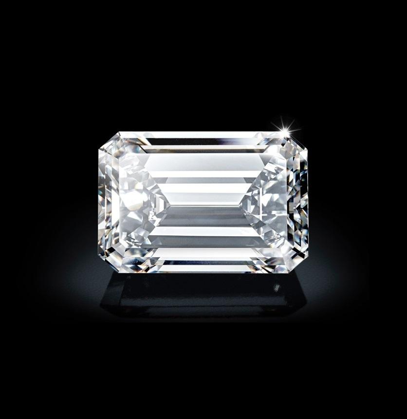 Emerald Diamond 3.75ct F VS1 Shape IGI Certified CVD TYPE2A