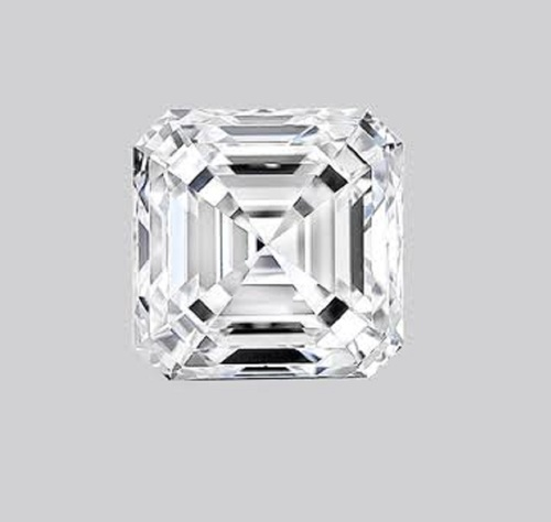 ASSCHER Emerald Diamond 4.09ct F VS1Shape IGI Certified CVD TYPE2A