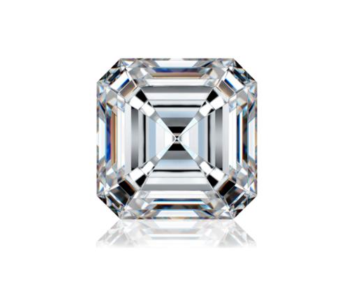 ASSCHER Emerald Diamond 4.01ct H VS1 Shape IGI Certified CVD TYPE2A