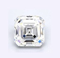 ASSCHER Emerald Diamond 4.00ct I VS2 Shape IGI Certified CVD TYPE2A
