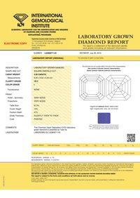 ASSCHER Emerald Diamond 4.00ct I VS2 Shape IGI Certified CVD TYPE2A