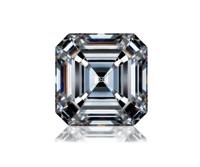 ASSCHER Emerald Diamond 3.56ct G VVS2 Shape IGI Certified CVD TYPE2A