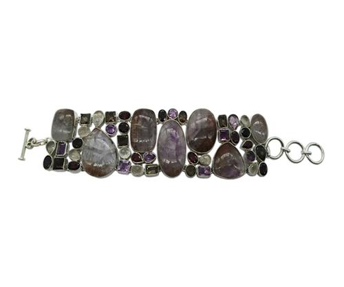 Fashionable Multi Stone 925 Silver Bracelet