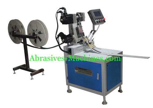 Abrasive flap cut machine