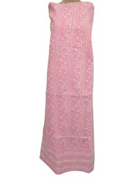 Ethnava Hand Embroidered Cotton Pink Kurti Piece