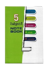 5 Subjects Notebook, Table Size, Hard Binding, 160 Pages & 320 Pages