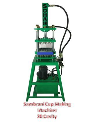 Sambrani Cup Making Machine (20 Cavities)