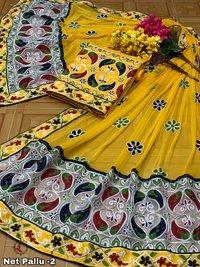 CHANDERI ARI DRESS MATERIAL
