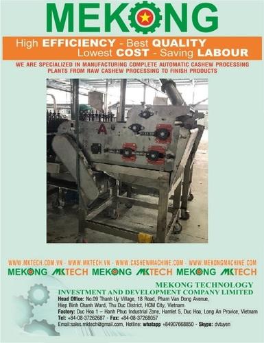 Automatic Cashew Shelling Machine Capacity: 160 Kg/Hour Kg/Hr
