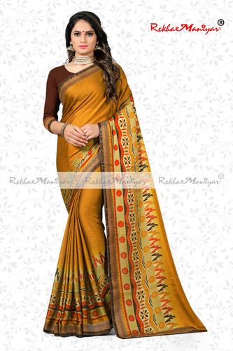 Rangoli Lace Borderd Saree with Blouse