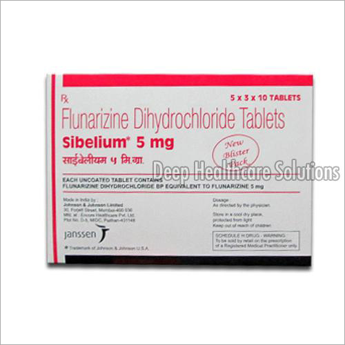 5 mg Flunarizine Dihydrochloride Tablet