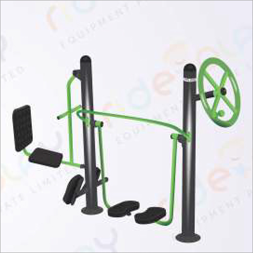 Outdoor Gym Leg Press With Air Walker Cum Shoulder Wheel