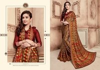 Rangoli Silk Lace Border Printed Saree With Blouse