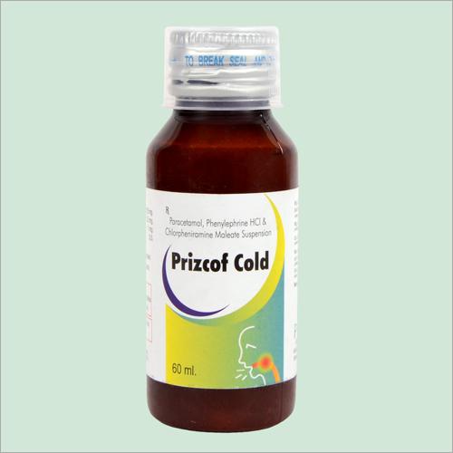 60 ml Paracetamol Phenylephrine HCI And Chlorpheniramine Maleate Suspension