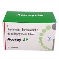 Aceclofenac Paracetamol And Serrationpeptidase Tablets