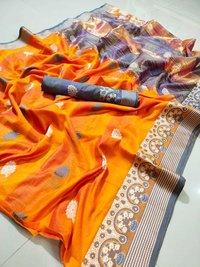 Cotton Saree Printed