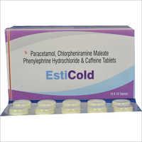 Paracetamol - Chlorpheniramine Maleate Phenylephrine Hydrochloride & Caffeine Tablets