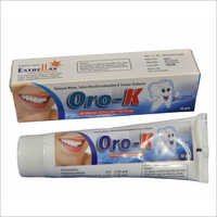 Potassium Nitrate and Tridasan Toothpaste