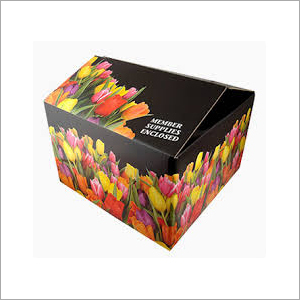 Floral Printed Corrugated Box