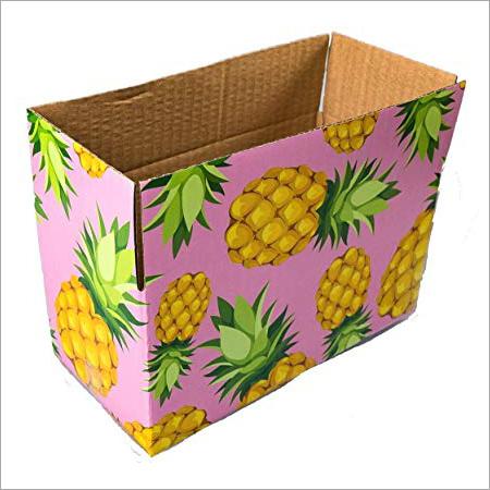Multi Coloured Printed Corrugated Box