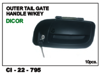 Outer Tail Gate Handle W/Key Dicor