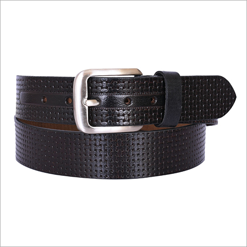 Black Leather Fancy Belt