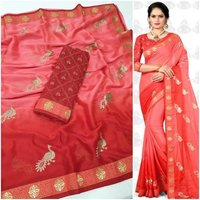 Rangoli Silk Zari Work Saree With Blouse