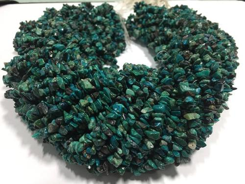 Quantity Pack Chrysocolla Uncut Chips Beads, Chrysocolla Chips Beads, 36 Inches Strand (Pack Of 10 Strands)