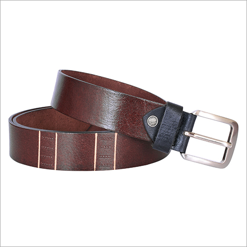 Mens Brown Leather Belt