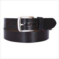 Black Leather Fancy Belt
