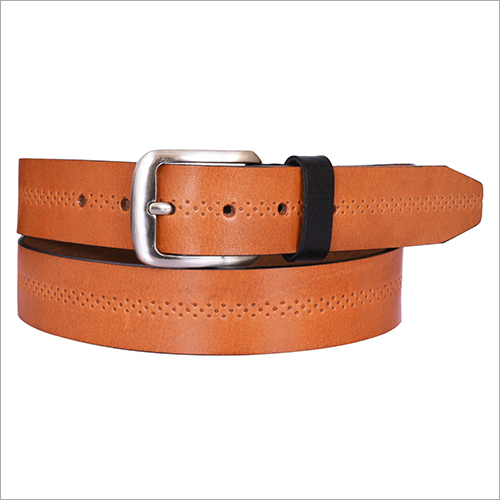 Tan embossed Leather Belt