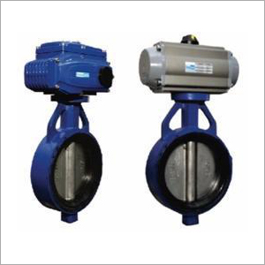 Pneumatic-Electric Actuator Operated Butterfly Valve