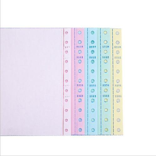 100% virgin wood pulp multiply colourful carbonless ncr paper for needle printer