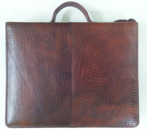 Croco Leather File Cum Organizer