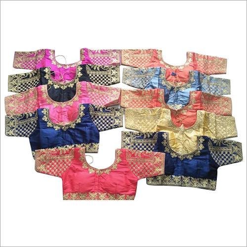 Half Sleeve Embroidered Saree Blouse