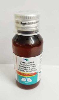 Paracetamol 250 mg Phenyleprine 5 mg+ chlorpheniramine Meleate IP 2 mg. susp
