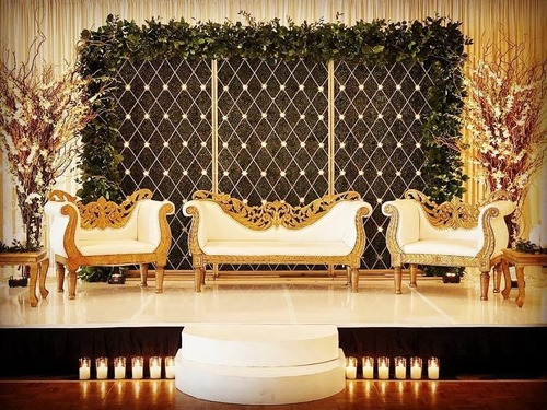 Candle Wall Wedding Stage