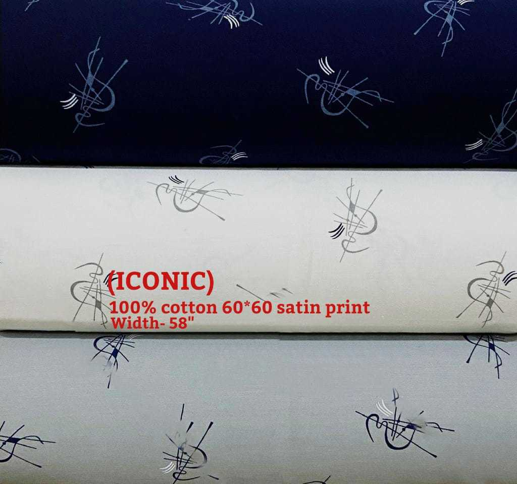 ICONIC 100% cotton 60*60 satin print