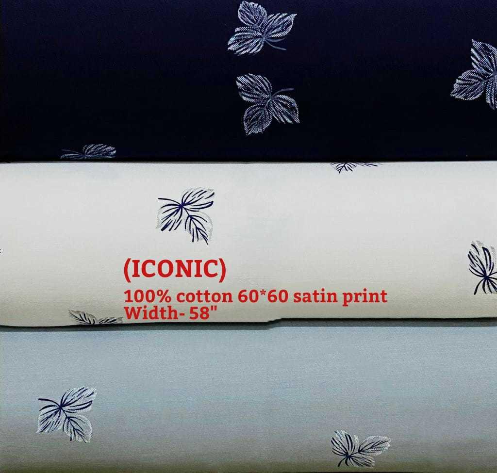 ICONIC 100% cotton 60*60 satin print