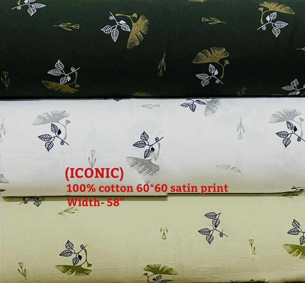 ICONIC 100% cotton 60*60 satin print shirt fabric