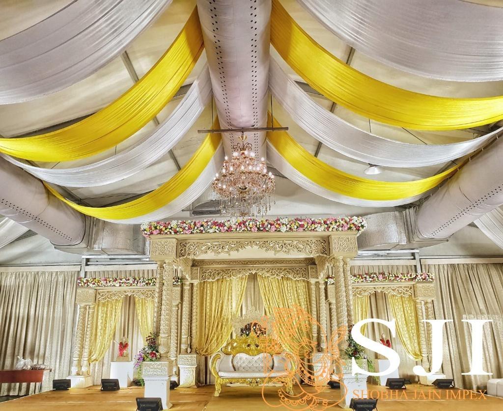 Triple Pillar Wedding Mandap