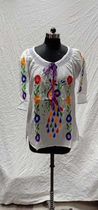 Cotton Computer Embroidery Top