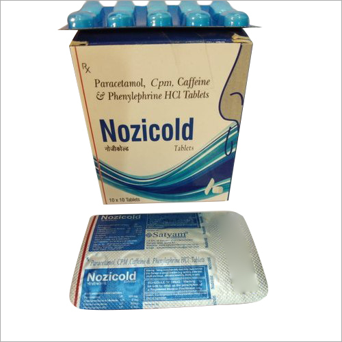 Paracetamol CPM Caffeine And Phenylephrine HCL Tablet