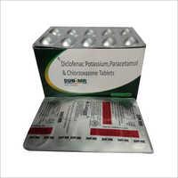 Diclofenac Potassium Paracetamol And Chlorzoxazone Tablet