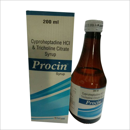 200 ML Cyproheptadine HCL And Tricholine Citrate Syrup